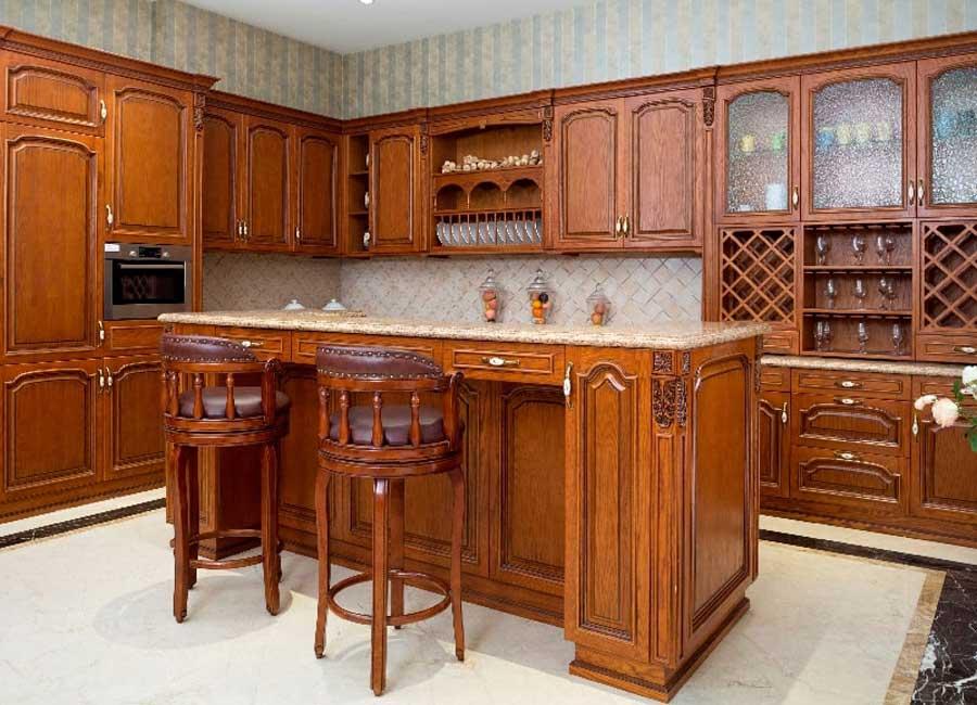Klasyczna kuchnia w drewnie
