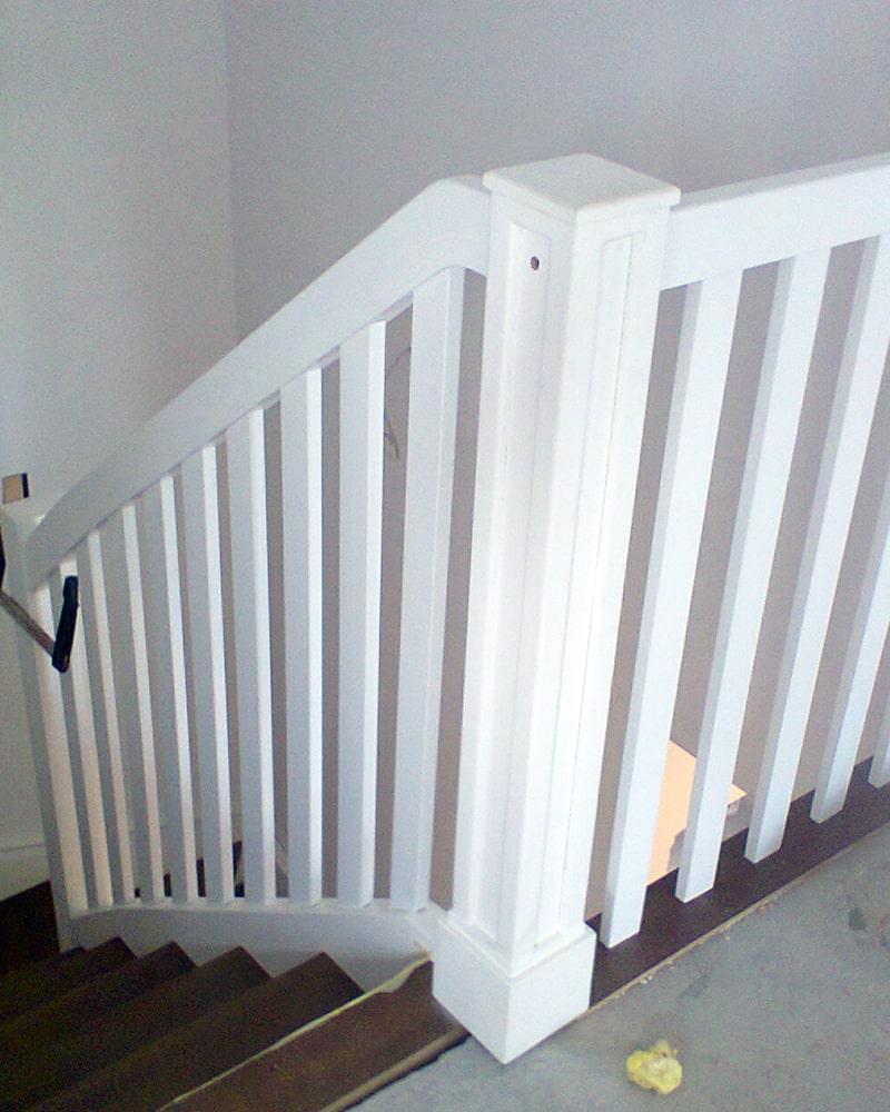 Białe schody - schody na wymiar